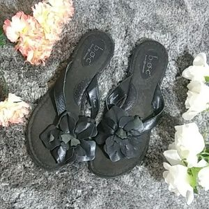 B.O.C Sandals with Flower Detail